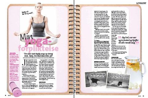 Min yogaforpliktelse, publisert i Kamille (feb -14)